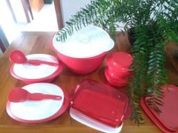 Kit vermelho 8 peças Tupperware Natal mágico vermelho