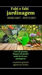 Corte,podas e limpeza de jardim