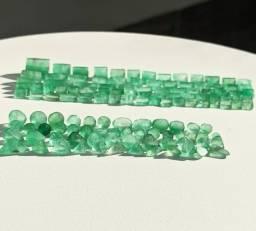 Esmeraldas Naturais Formadas - Prontas Para Lapidação Ct