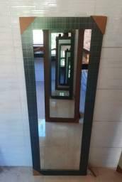 espelho moldura grossa de 60 x 1m60 de altura