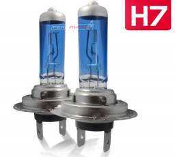 Par de Lâmpadas H7 100W Super Brancas