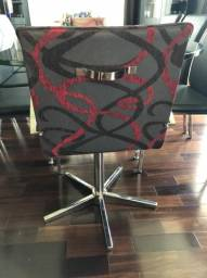 Cadeiras giratórias estampadas