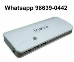 Bateria Carregador Portátil Recarregável 10.000mAh p/ celular (Novo, aceito cartão)