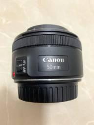 Lente profissional CANON 50mm 1:1.8 STM
