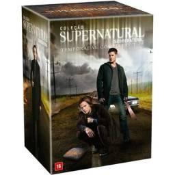 Box Dvds Supernatural da 1ª a 8ª Temporada (47 Dvds), novo, original e lacrado de fábrica.