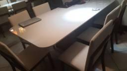 Mesa de Jantar Luxo  2.20m x 1.10m 6 cadeiras
