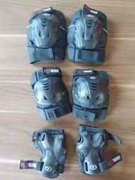 Kit Proteção - Esportes Skate, patins (munhequeira, cotoveleira e joelheira)