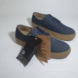 Sapato Reserva azul em nobuck, tamanho 40