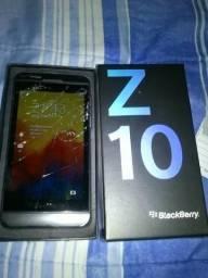 """Blackberry Z10,""""tela trincada"""" em ótimo estado"""