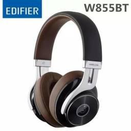Edifier w855bt over-ear bluetooth com microfone 3.5mm aux cabo jogos