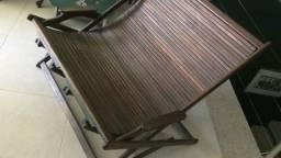 Espreguiçadeira dupla madeira de lei