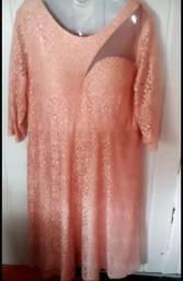 Vestido calça rosa