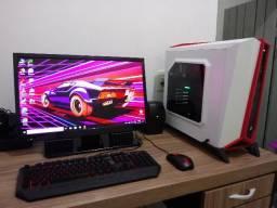 Computador gamer pc completo windows 10 pro com TV monitor de 24,5 polegadas