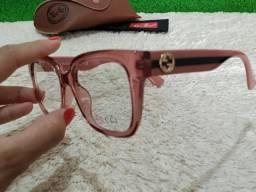 7df413a30ea Armação Gucci feminina rosa