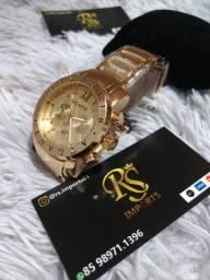 3f68174f75c Relógio Original Atlântis inspirado no modelo iron Mem Bvlgari (Garantia)