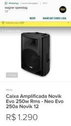 Caixa de som 250 wats, multifuncional