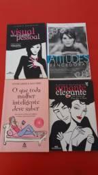 Kit com 4 livros Literatura jovem para meninas