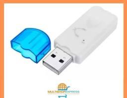 Adaptador Receptor de Áudio Bluetooth USB