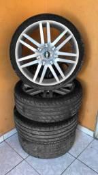 Rodas do audi aro 18 universal - 4 pneus novos