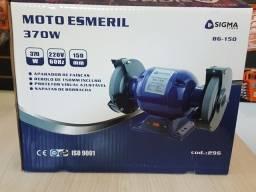 """Moto esmeril 370W 5"""" e Proteção BG-150 Sigma - 220V"""