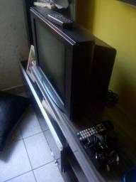TV de 21' tela plana + conversor