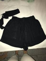 Título do anúncio: short preto tecido