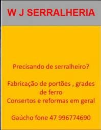 PRESISANDO DE SERVIÇOS DE SERRALHEIRO CONTATO