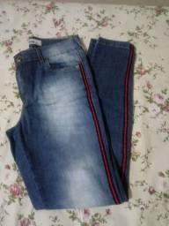 Calça + short (jeans)