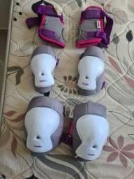 Kit proteção patins infantil