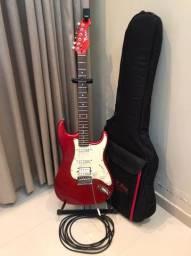 Guitarra captador humbucker + Afinador + Capa + Cabo 4,5m + Suporte