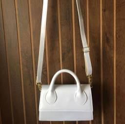 Bolsa branca pérola (mini bag)