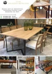 Mesa de Jantar, Café da Manhã, Café ou Centro com mdf ou madeira