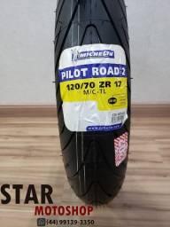 Pneu Michelin Pilot Road 2 - 120/70-17 - Novo