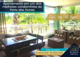 Apartamento em um dos melhores condomínios do Porto das Dunas - Golf Ville Resort