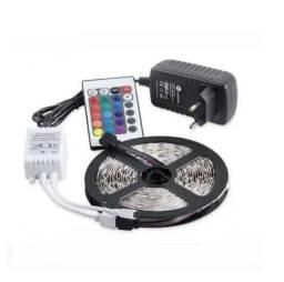 Fita de led RGB 5m com fonte de 12v (controle com bateria)