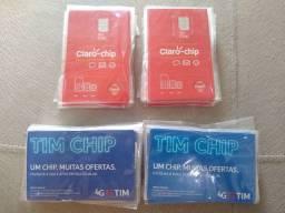 Chip da Claro e da TIM lacrados