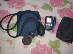Aparelho de medidor de pressão e medidor de glicemia