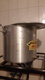 Panela Cervejeira Aluminio, 45 litros + torneira + fundo falso