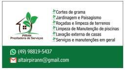 Serviços de limpeza de terrenos e jardinagem em geral
