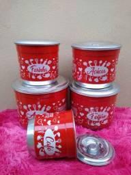 Jogo de latas em alumínio 5 peças