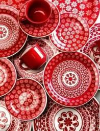Aparelho de jantar bioma vermelho 30 peças
