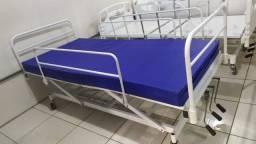 Cama Hospitalar Manual + Colchão de Brinde