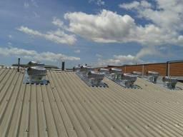 Instalação de exaustores eólicos