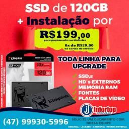 SSD 120GB + Instalação