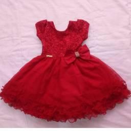Título do anúncio: Vestido infantil de festa ,1 ano