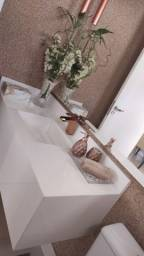 Bancada de lavabo com cuba esculpida em material importado super nano