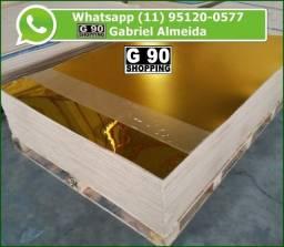 Título do anúncio: Chapa de Acrílico Espelhado Dourado 1,00 x 2,00 3mm