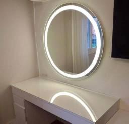 Espelho com led embutido 0,70 x 0,70