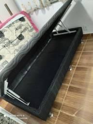 Vendo cama box báu de solteiro