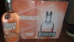 Título do anúncio: Caixa com 12 unidades Vodka Absolut Peach 1L